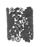 Chantilly Lace Cuff - Black - £85