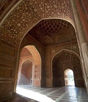 This is just one part of the Interior of the Taj Mahal.