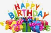 May Birthdays...