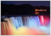 Le Chutes de Niagara a le soir
