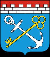 Coat of arms of Leningrad region.