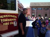 Firefighters Visit Evergreen for Fire Prevention Week
