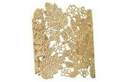 Gold Chantilly Lace Cuff