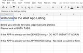 Approved/Denied App List