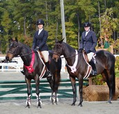 Sidney (right) 5th place ribbon Morgan (Left) 2nd place ribbon