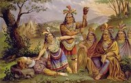 Pocahontas with her tribe