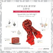 Trunk Show Exclusive Offer until 8th Feb