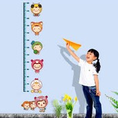 Both average height and weight recorded on height chart for EACH age