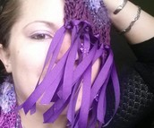 Lindsay Lou loves her purple scarf!