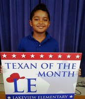 2nd Grade Texan of the Month