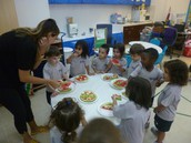 Fruit Pizzas with Ms. Diana