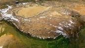 A satalite view of the Tibetan