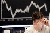 Representación de la caída de la bolsa