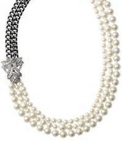 Daisy pearl necklace 118.00  sale 55.00