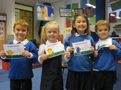 Award winners from before the half term...