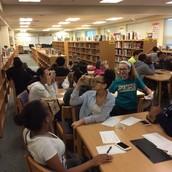 8th grade students using Google Cardboard