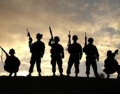 Men in the war fight for our country.