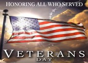 Veterans Day - Nov. 11th