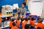 Ms. Hughes Reading to her 1st Grade Class PVAM!