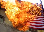 Burning the American Flag