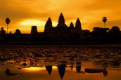What are visitors experience when going to Angkor Wat, Cambodia?