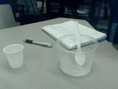 table salt with vinegar after