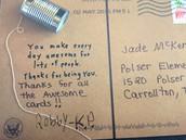 Kid President's postcard!
