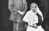 Gandhi and his wife