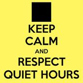 Quiet hours!