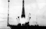 Sputnik rocket launching