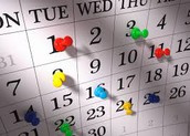 Calendar Events - September 19th-23rd