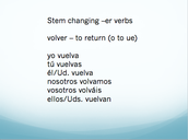 Stem Changing Verbs in the Subjunctive