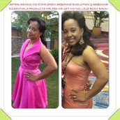After 2 months, 20lbs gone! After 5 children, Arbonne's products & program helped me get my college skin & body back!
