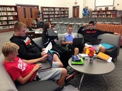 Students enjoying our HS Media Center