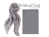WESTWOOD SCARF - DOVE GREY METALLIC