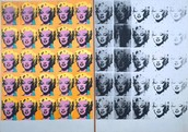 Andy Warhol painting of Marilyn Diptych.
