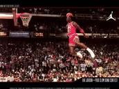 Michael participates in the slam dunk contest
