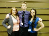 L-R:  Shelby Wright, Brent Strahla, Olivia Malone