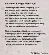 Sir Walter Raleigh Peoms