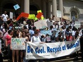 Be cool. Recycle at school!