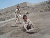 kids at a brick factory in Pakistan