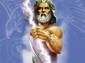 How did Zeus become king of the Olympian gods?