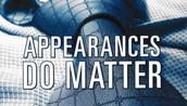 Appearances do matter