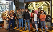 Seniors at Harley Davidson factory.
