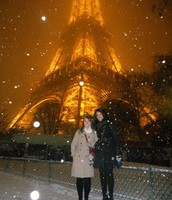 It's snowing in paris