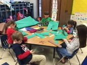 Making trees for our mural