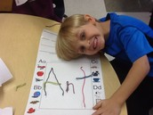 We spelled words with wiki sticks!