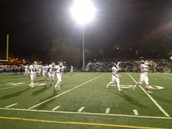 Brendan White after punching it in the end zone vs Alhambra