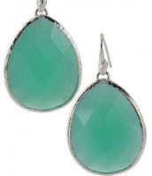 Serentity Stone Drop Earrings, Aqua