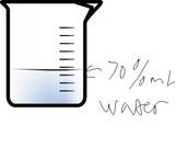 70% ml water